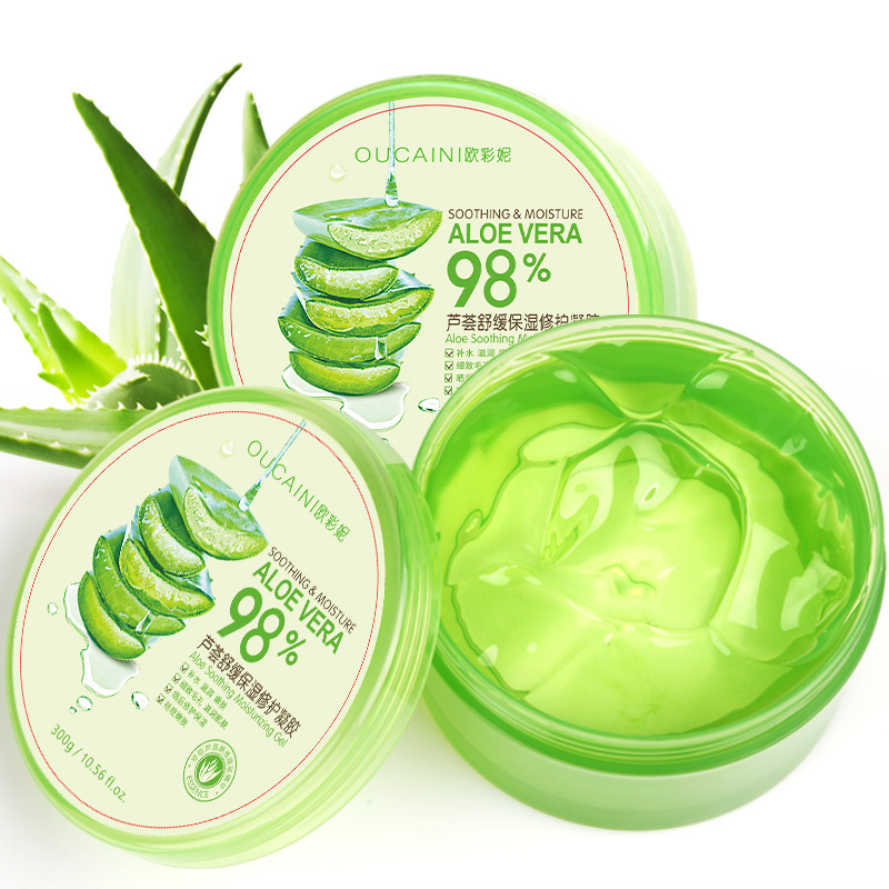 Profession 300g Natural aloe vera Smooth Gel Acne Treatment Face Cream for Hydrating Moist Repair After
