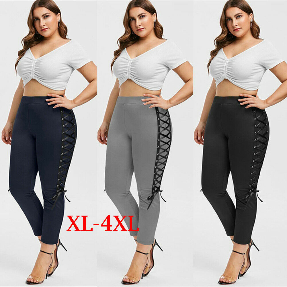 Women High Waist Bodycon Long Pants Casual Lady Streetwear Fitness Leggings Running Gym Sports Pants Trousers Gifts in Pants amp Capris from Women 39 s Clothing
