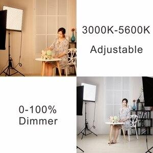 Image 4 - FalconEyes Studio LED panneau déclairage vidéo 150W lumière de remplissage Portable Flexible carré enroulable tissu lampe RX 24TDX avec Softbox