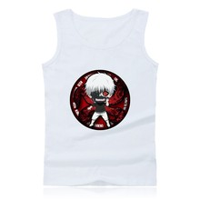 Janpenese Anime Tokyo Ghoul tank top men sleeveless tops and Cartoon Clothing Shirt in Summer Vest Plus Size 4XL