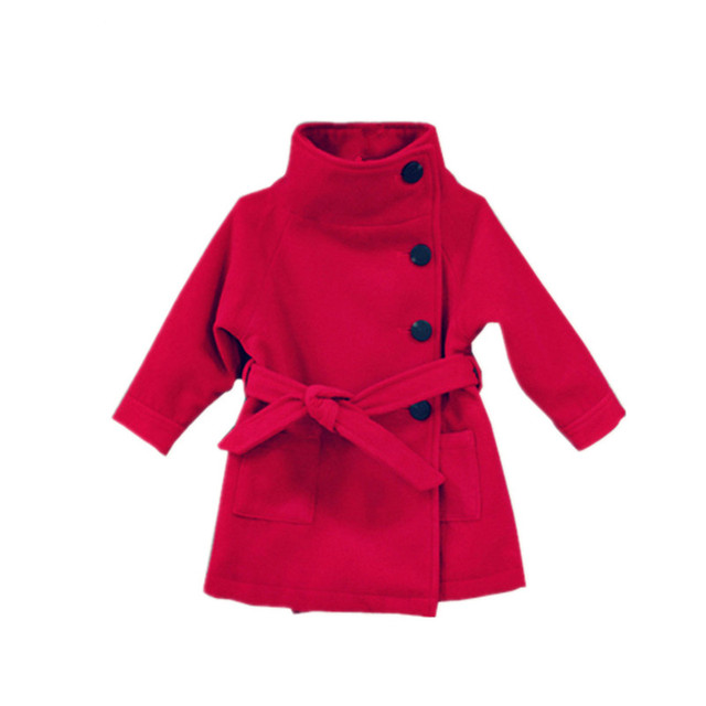 New 2017 Boys and Girls Outerwear Coats Children Fashion Trench Kids Winter Jackets Coats Warm Clothes Baby Clothing 3-7 yrs
