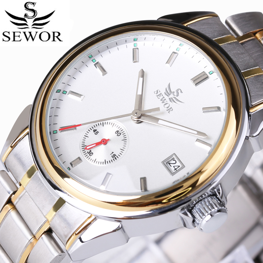 Double Second Hand Calendar Function Military Automatic Mechanical Watch Top Brand Luxury Business Watches Men stainless steel цена