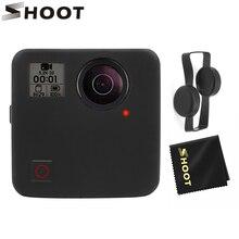 SHOOT miękkie silikonowe etui ochronne obudowa osłona obiektywu dla GoPro Fusion Action obudowa kamery pokrywy skrzynka Shell dla akcesoria GoPro