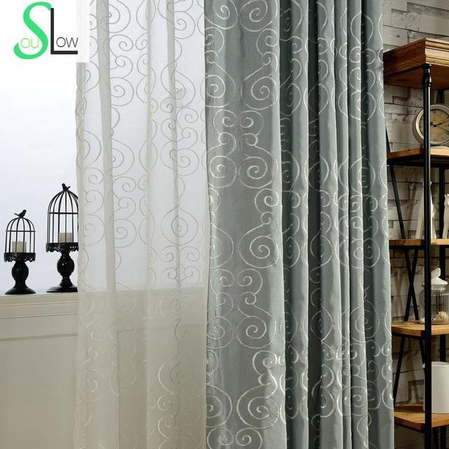 Nebel Bestickten Vorhang Weiß Gold Line Vorhänge Cortinas Für Wohnzimmer  Cortina Sheer Und Tüll Schlafzimmer Para