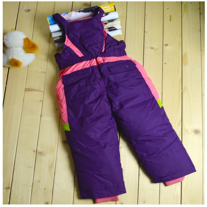 Winter Children's Ski Byxor Down Boys and Girls Hög midja Byxor - Barnkläder - Foto 6