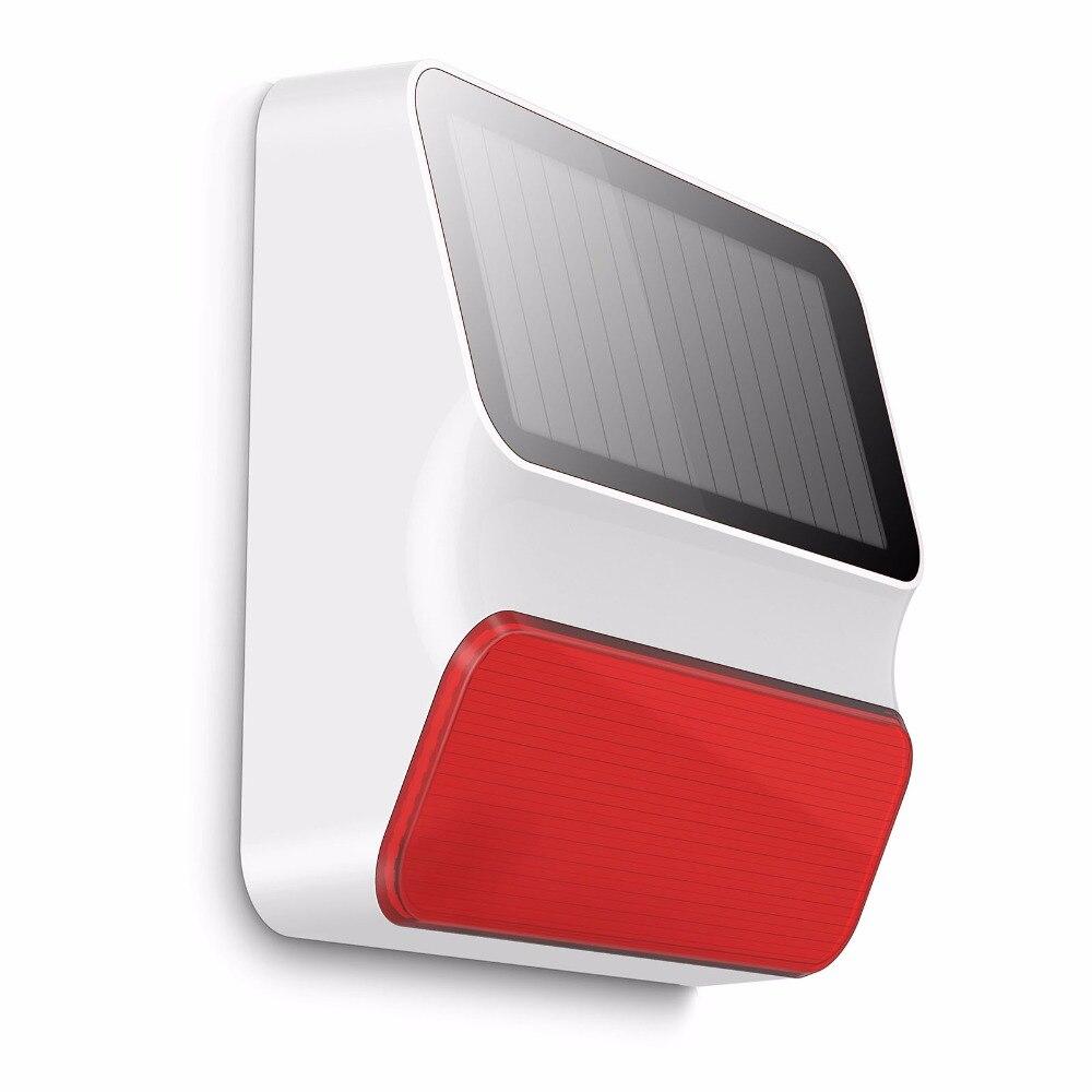 Sirène stroboscopique solaire extérieure sans fil de ES-S8A extérieur sans fil de Smarsecur pour le système d'alarme à la maison G90B-PLUS/S3G