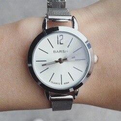 Изящные женские часы ультратонкие из нержавеющей стали с сеткой модные кварцевые наручные часы женские часы наручные часы подарок PT