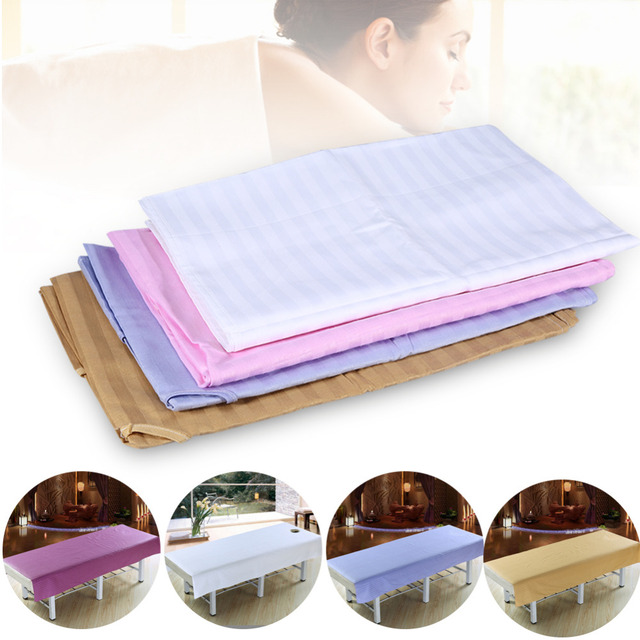 Soft Cotton Stripe Bedsheet Beauty Salon Massage Sheet Body SPA