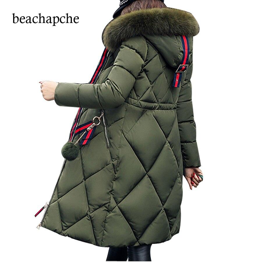 2017 autumn winter jacket women cotton-padded jacket parka long thicken hooded jacket women winter coat outerwear