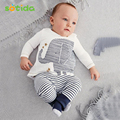 Clothing sets 2016 autumn baby boy clothes cotton baby clothing baby elephant Long sleeve Tops + Stripe Pants girl baby clothes