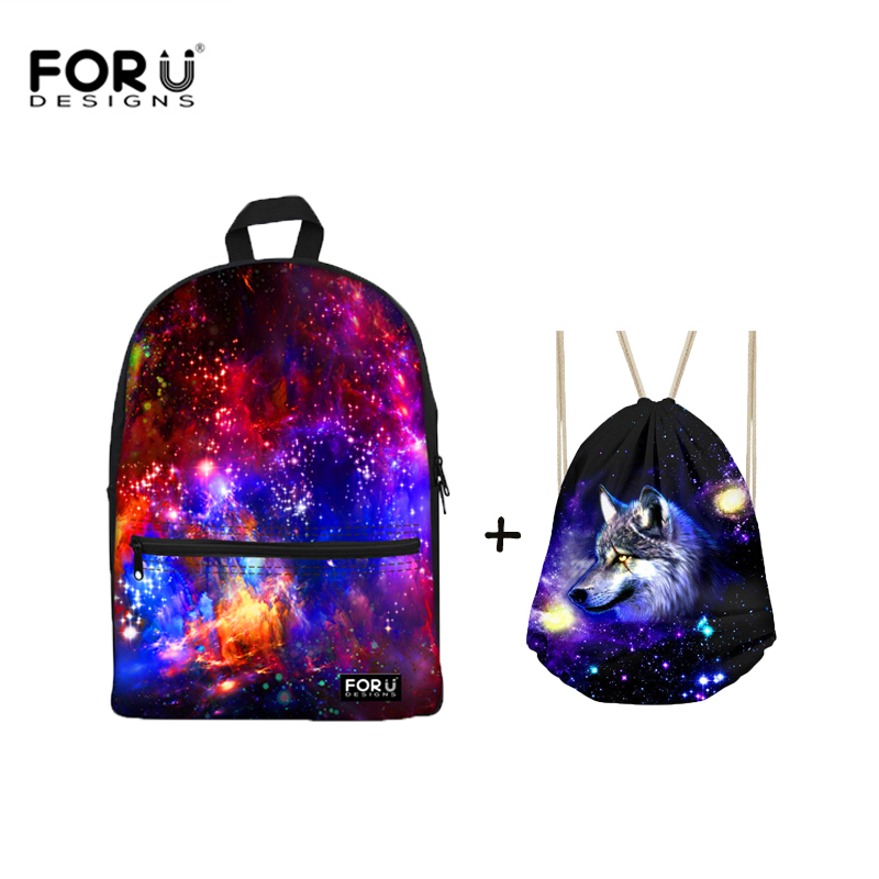 FORUDESIGNS Galaxy Print Drawstring Bag Rucksack Fashion Portable Backpack  Combination Shoes Bags Women Travel Pouch Storage-in Backpacks from Luggage  ...