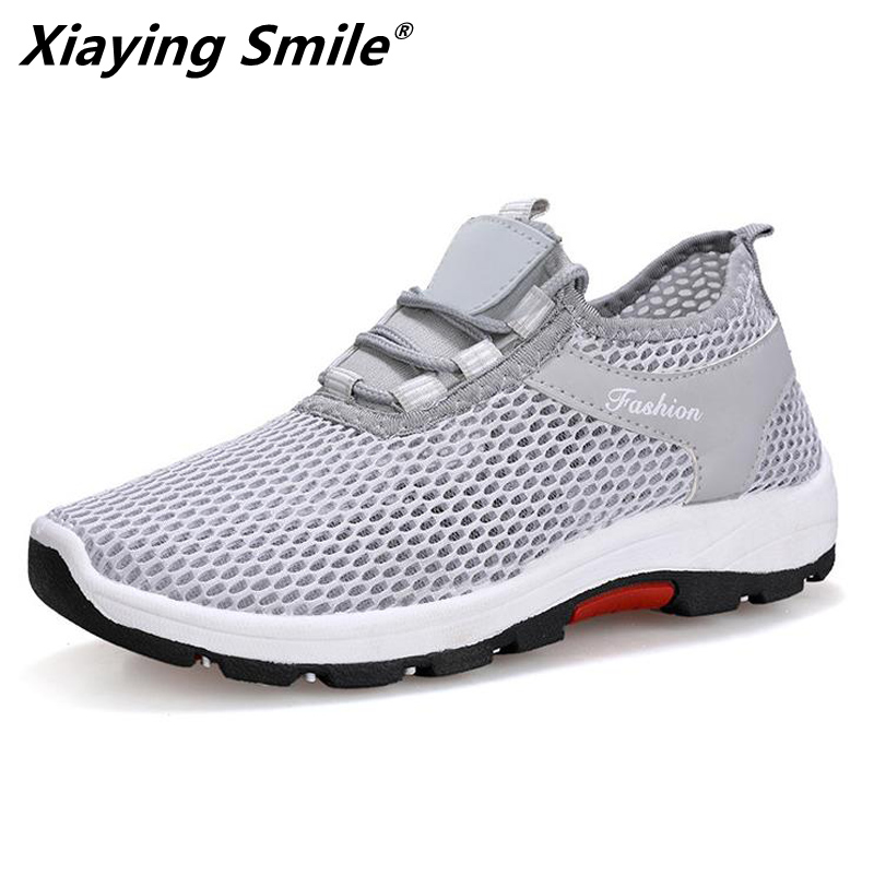 Xiaying Smile Light Breathable Mesh Running Shoes Pink Shoes Women Soft Comfortable Outdoor Sport Sneakers Summer Fitness Female