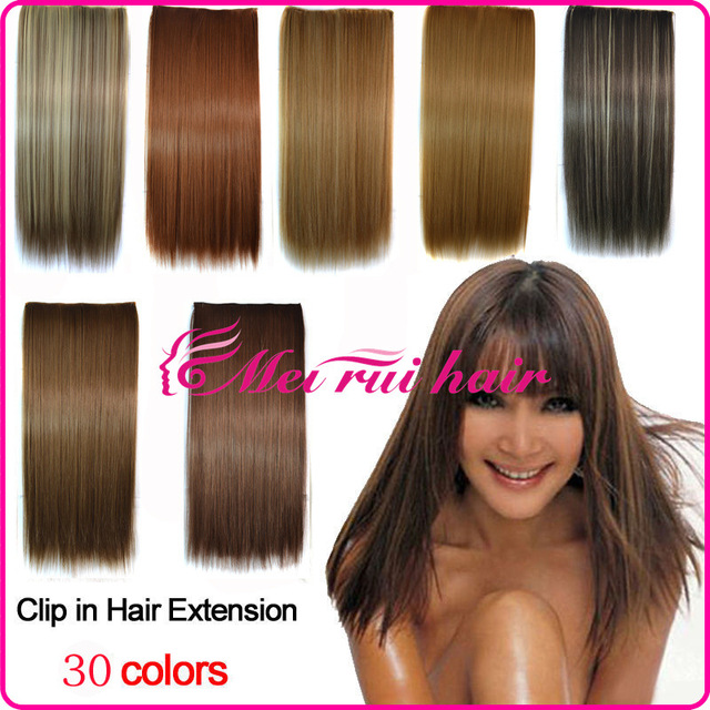 Hair Extension 30 Colors Straight Clip In Hair Extensions Synthetic