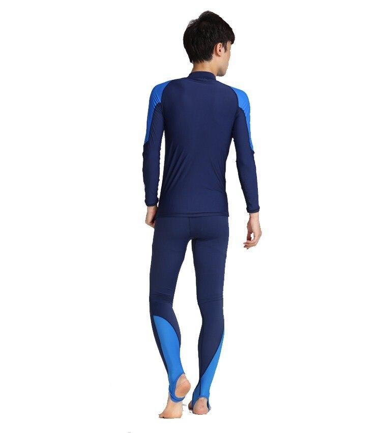 Noir/Bleu Lycra Dive Peau pour Plongée sous-marine, plongée en apnée et Sports Nautiques, Sun Protect Full Body Maillots De Bain Maillot De Bain
