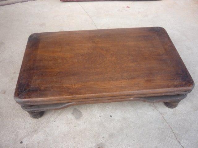 Rare ancienne Table Kang en bois de la dynastie Qing, avec de belles coquillages, livraison gratuite
