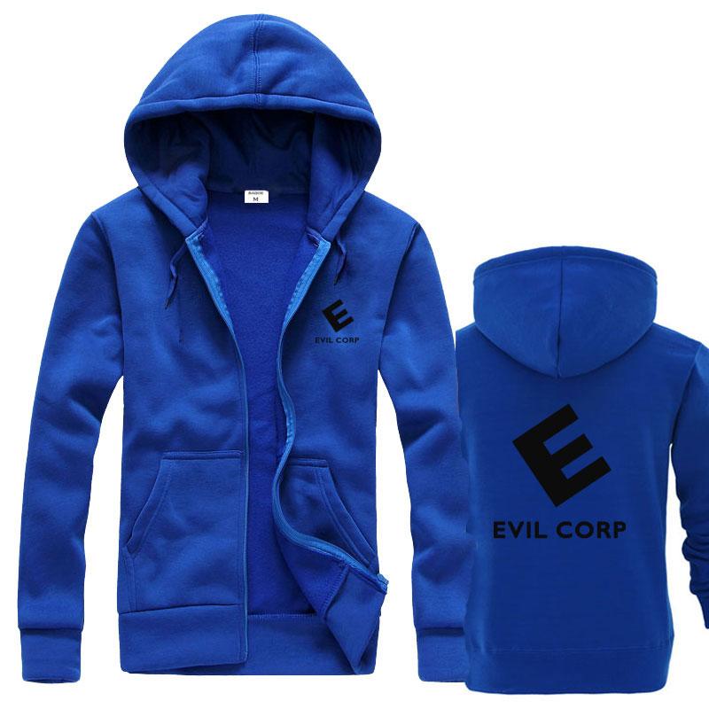 Robot Evil corp Hoodies Black Sweats Hoodies Man/'s Coat Outwear Cosplay