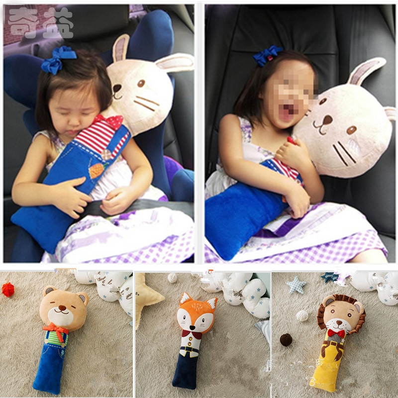 Plush Cute Seat Pet Seatbelt Buddy Baby Kids Car Belt Pad Soft Lovely Cartoon Animal Toy For Gift Bear Rabbit New YLM9147 automotive car seat belt seatbelt adjuster auto belts clip for short people children end the pain