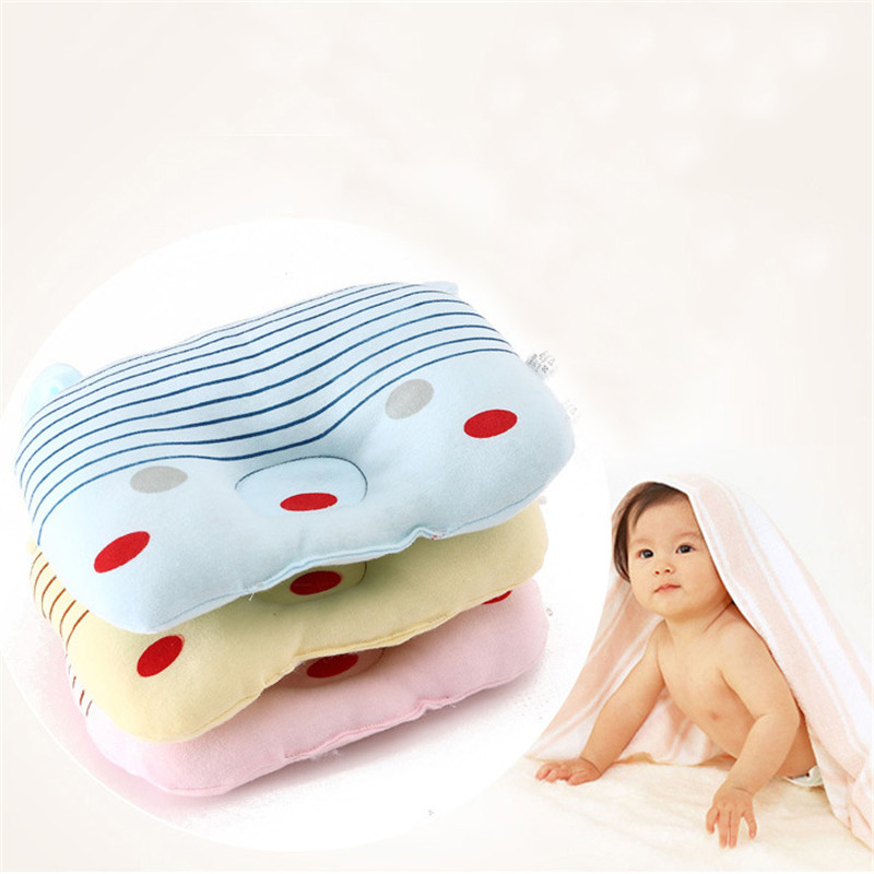 Newborn Memory Stereotypes Pillow Baby Shaping Pillow Soft Cartoon Style Anti-rollover Velvet Fabric Sleep Bedding