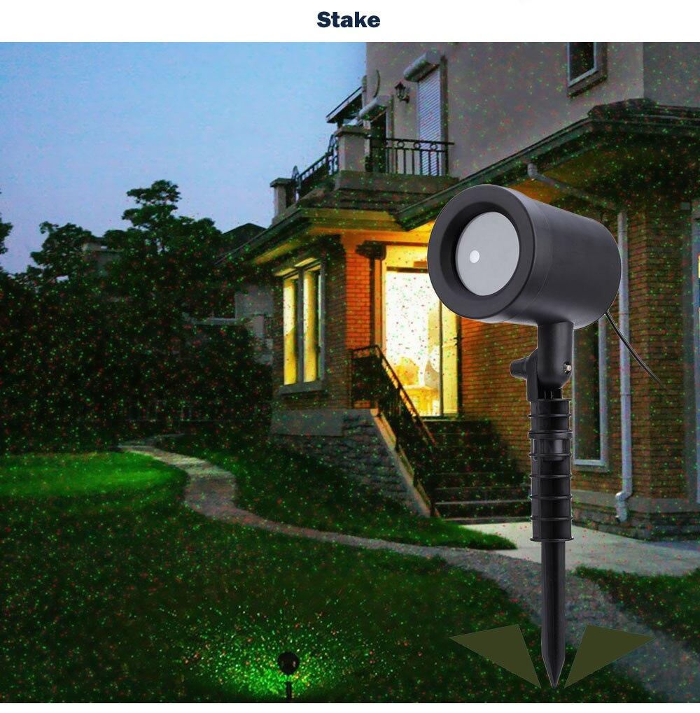 Aimbinet Außen Laser Projektor Sky Star Rampenlicht Duschen Landschaft DJ Disco Lichter R & G Garten Rasen weihnachtsfeier