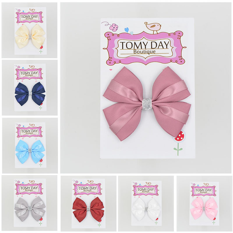 1pcs Newly Design Fashion Grosgrain Children Headdress Girls Cute Hair Clips   Headwear   Big Bow Hairpins Baby Hair Accessories