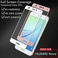 Huawei nova colorful cubierta de la pantalla la película del protector de pantalla de cristal templado para huawei nova 5.0 pulgadas blanco negro oro
