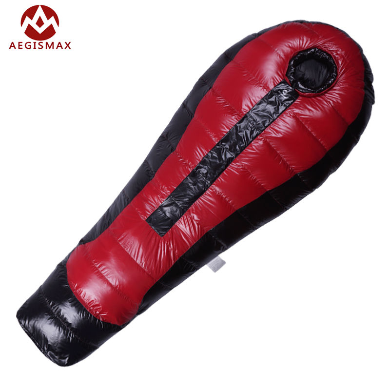 AEGISMAX Ultralight Duck Down Sleeping Bag For Camping  Nylon mummy winter Adult Outdoor Backpacking Hike 1000g-1300g-1500g