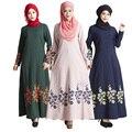 Malasia Vestido Abaya Musulmán Islámico turquía Mujeres Floral print vestidos fotos ropa jilbab turco ropa burka Dama