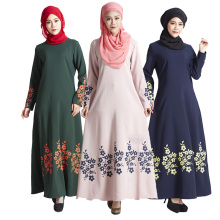 Malaysia Muslim Abaya Dress turkey Islamic Women Floral print dresses pictures jilbab clothes turkish women clothing burka Lady