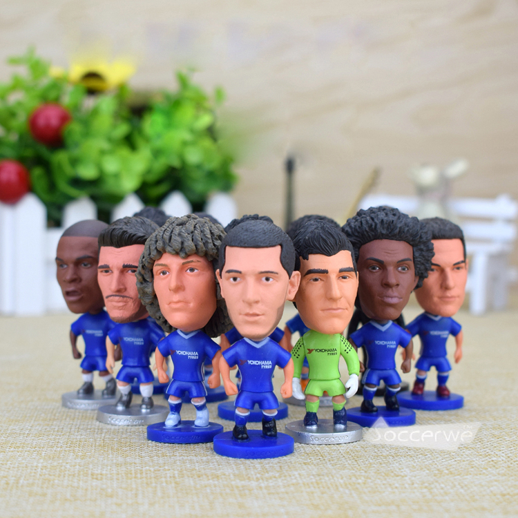 12PCS + Display Box Soccer CHE FC Player Star Figurine 2.5 Action Doll Classic version The fans GIFT