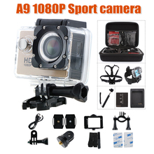 action camera 1080P 15fps 720P HD Original GEEKAM A9 sport cam deportivas pro waterproof go camera Mini Video camcorders