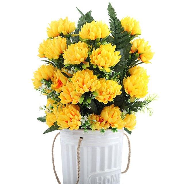 4 Colors 52cm 3pcs 27 Heads Silk Gerbera Daisy Chrysanthemum