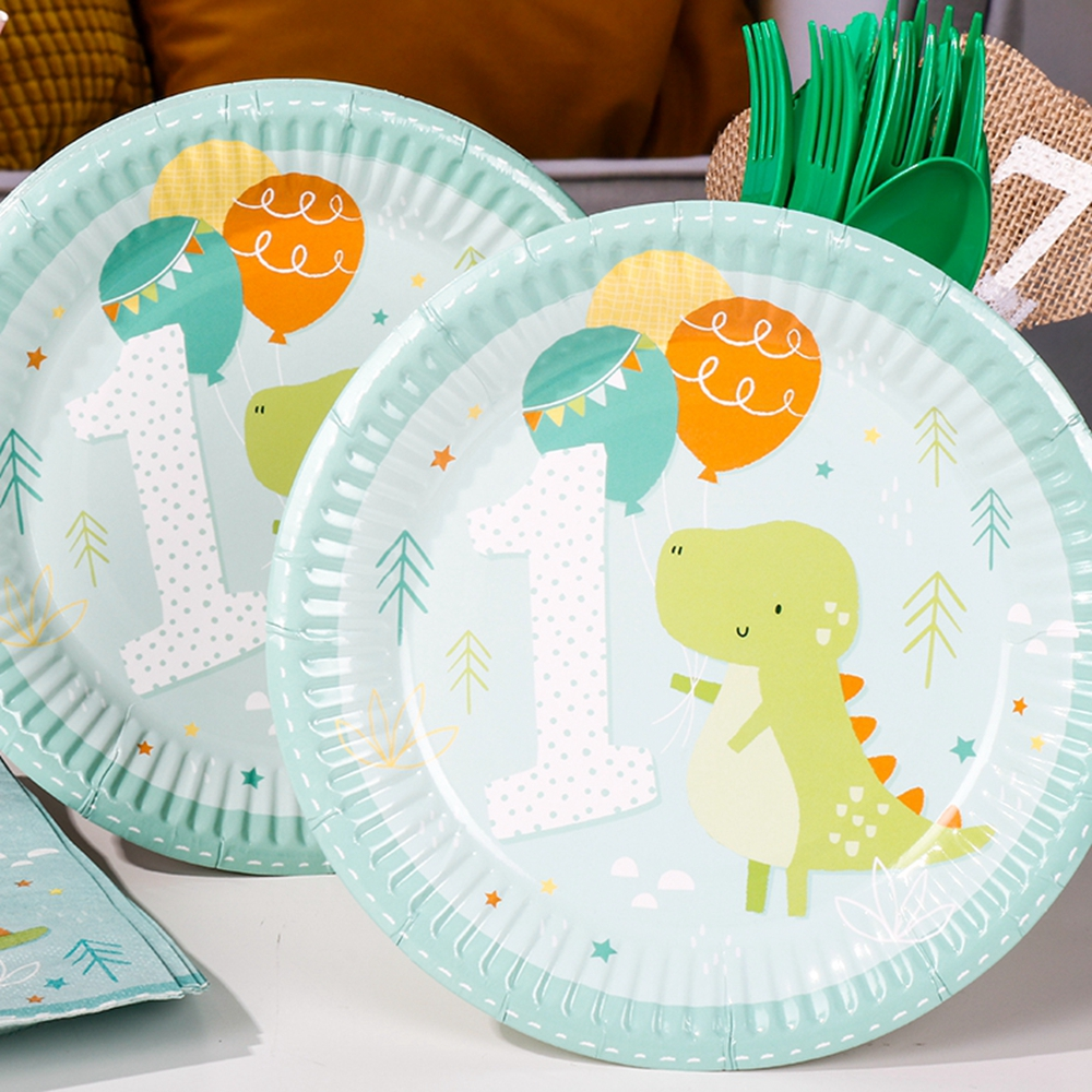 8pcs 7inch Cartoon Crocodile 1st Birthday Wedding Party Supplies Decoration Cake Dish Disposable Paper Plates Baby Shower Favors-in Disposable Party ... & 8pcs 7inch Cartoon Crocodile 1st Birthday Wedding Party Supplies ...