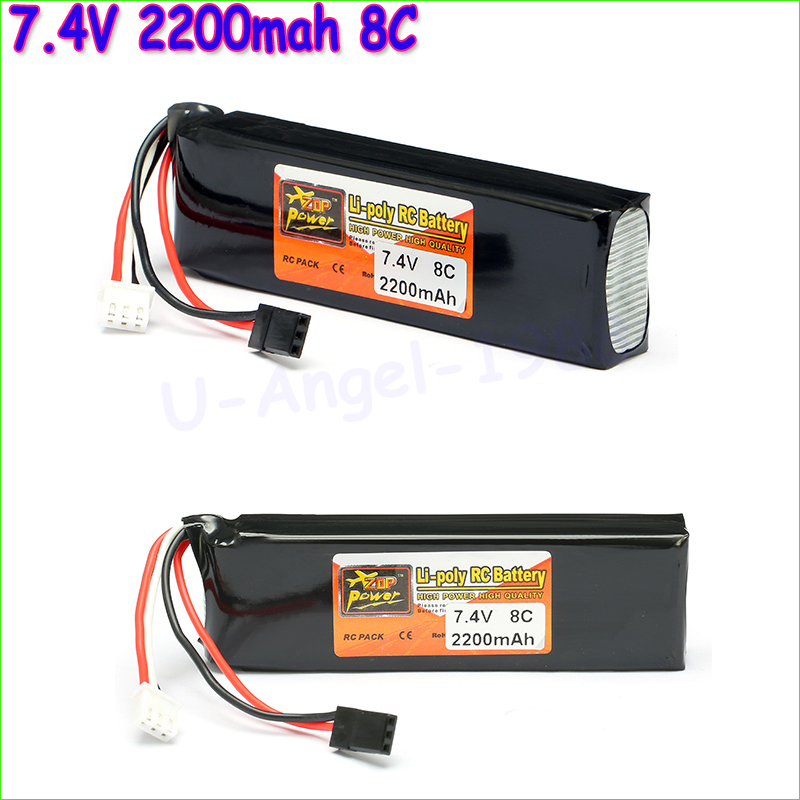1pcs ZOP Power Lipo Battery 7.4V 2200mAh 8C Li-Po Battery For DEVO 4/ 7E / 6S / 8S Transmitter Li-poly RC Battery wholesale