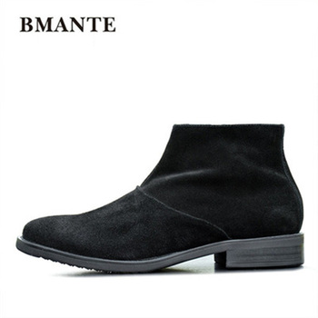 New Men Genuine Leather Shoes Luxury Trainers Summer Male Adult Shoes Casual Suede Flats zip Spring Black  Shoes