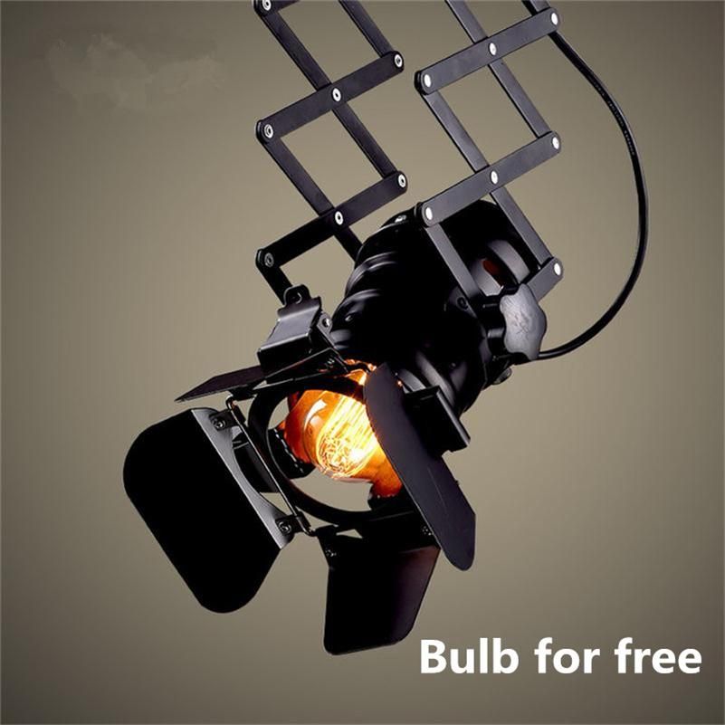 Loft RH Track Lights American Industrial Tracking Lamps Retro Lift Ceiling Rail Lighting Clothing Store Backdrop LED Spot Light led track light50wled exhibition hall cob track light to shoot the light clothing store to shoot the light window