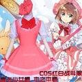 Anime Cardcaptor sakura card captor Sakura Kinomoto Sakura cosplay cap vestido