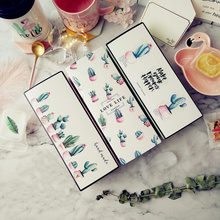 Creative Cactus Pattern Packaging Gift Box Nougat Cookie Candy Pineapple Cake Baking Wrapping Paper Boxs Wedding