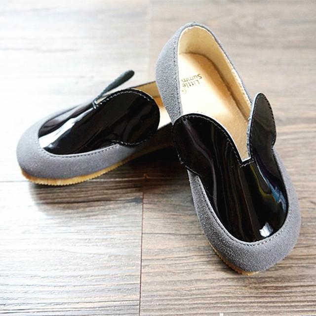 Nuevo estilo de Cuero Genuino zapatos de los Bebés Primeros Caminante Mickey Minnie Del Niño Zapatos mocasines bebé gils Envío Libre