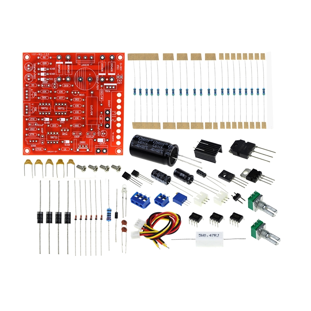 0-<font><b>30V</b></font> 2mA-3A <font><b>DC</b></font> Regulated Power Supply DIY Kit Continuously Adjustable Current Limiting Protection for school education lab image