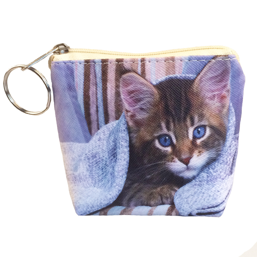 2017 New Cute Cat Wallet Wholesale child pussy Lovely Coin Wallet Children Kids Coin Holder Womens purse Mini Nice Wallet