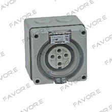 *50A three phase 5 round pin waterproof socket IP66 56SO550