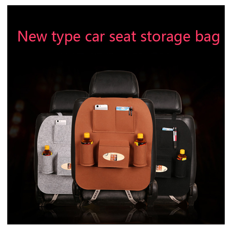QZAPXY Car seat organizer bag Multi-Pocket Car Backseat Organizer Phone Pocket Pouch for Books Tablet Mobile Drinks Tissue double pocket mobile phone pouch arm bag with velcro strap black