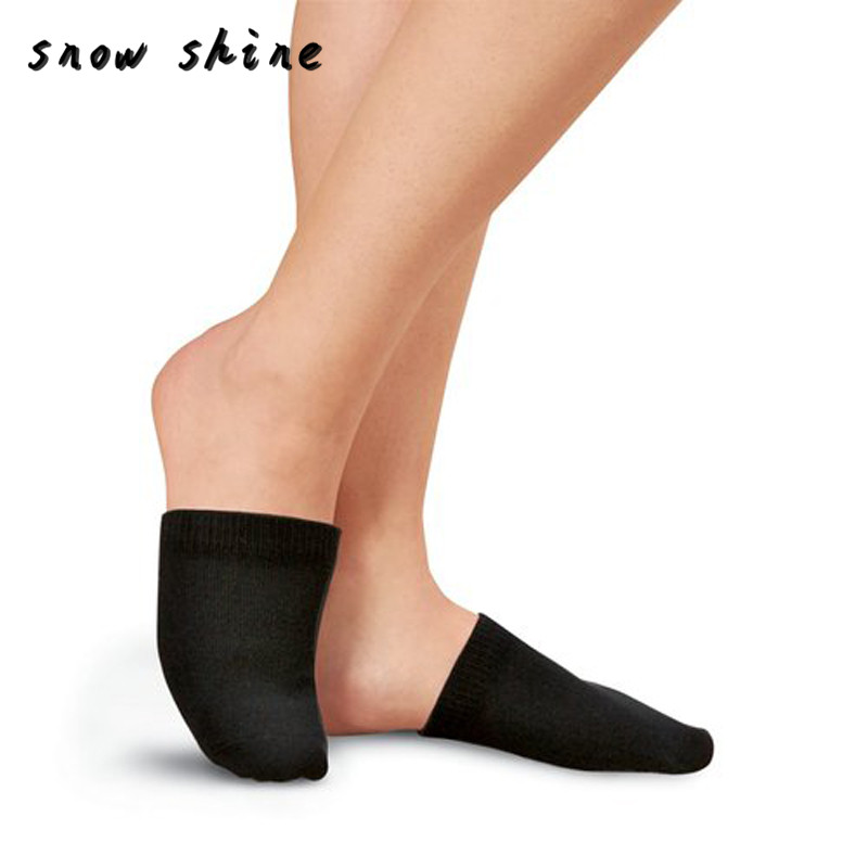 snowshine YLI 1 Pair Toe Toppers Socks Toe Cover Slings Mules Sandal Black free shipping