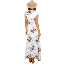 ZADORIN Hotsale Long Summer Beach Dress Women Sexy Deep V Floral Chiffon Maxi Dress Front Split Bohemian Dresses robe ete