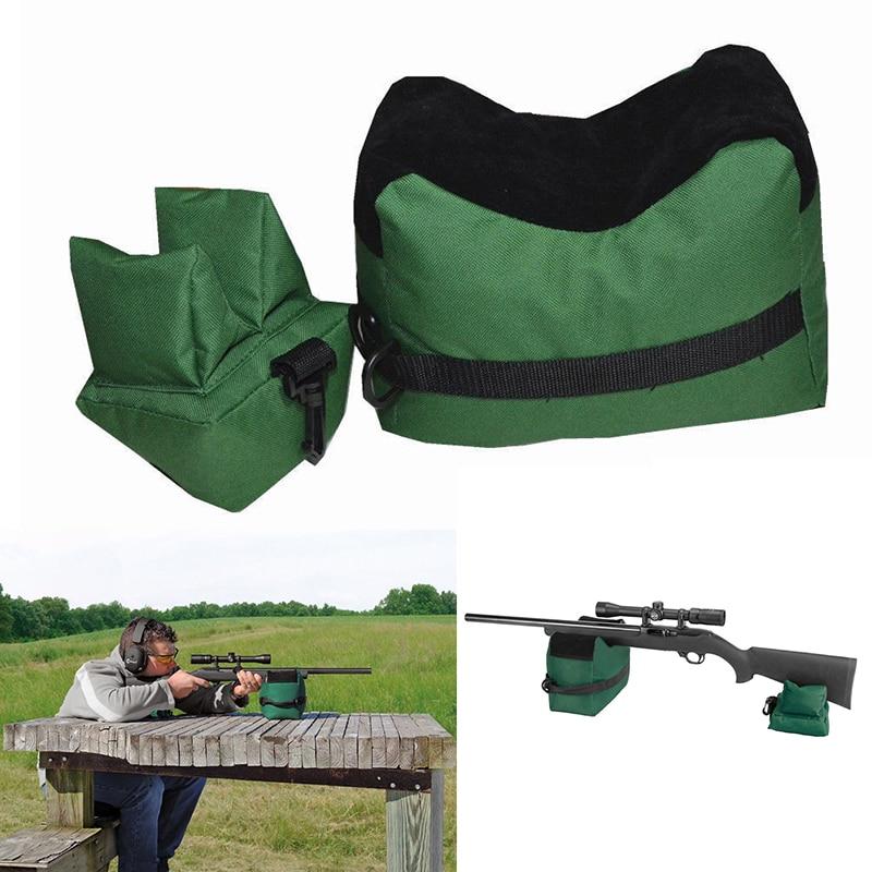 Hordozható lövés Hátsó pisztoly hátsó zsák szett Első és hátsó puska cél vadászat pad töltetlen állvány vadászati pisztoly kiegészítők