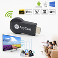 AnyCast Cast Wifi Display Dongle Receptor Stick de TV Empuje Cromo Cromo cualquier reparto HDMI Stick de TV Miracast DLNA fundido cromado Stick de TV