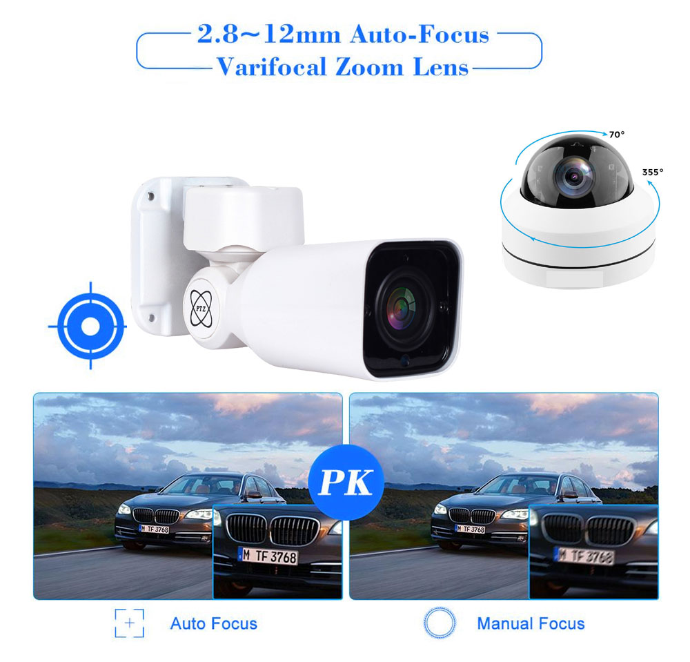 Image 5 - 5MP POE PTZ Dome 4X Optical Zoom 2MP IP Camera Network CCTV 1080P IR Night Security RJ45 Mini HD Cameras For HK XMeye ONVIF NVR-in Surveillance Cameras from Security & Protection