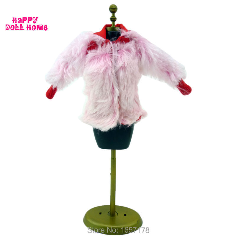 Fashion Winter Wear Fur Coat Lady Jacket Accessories Clothes For Barbie Doll Kid Play Ho ...