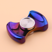 FEGVE Fidget Spinner Finger Titanium EDC Hand Spinner Tri For Kids Autism ADHD Anxiety Stress Relief