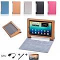 3 в 1! смарт Крышка Защитный Кожаный Чехол Для 8 Дюймов Lenovo Yoga 1 B6000 Tablet PC + screen film + Стилус бесплатно